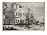 The British and American Consulates, Zanzibar (Litho) Giclee Print by  English
