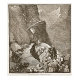 The Carthaginians Crossing the Alps (Litho) Giclee Print by  English