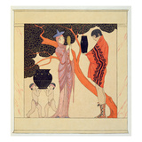 Love Token (W/C on Paper) Giclee Print by Georges Barbier