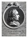 Jean Simeon Chardin (Copper Engraving) Giclee Print by Charles Nicolas II Cochin