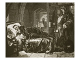 Argyll's Last Sleep before His Execution, Engraved by Dalziel Bros (Engraving) Giclee Print by Edward Matthew Ward