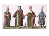 Head Usher of the Harem, Captain of the Harem Ushers, Harem Usher and Pageboy Giclee Print by  Italian
