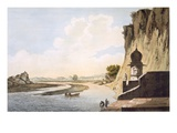 Pl. 26 a View of the Gaut at Etawa, on the Banks of the River Jumna, from 'Select Views in India' Giclee Print by William Hodges