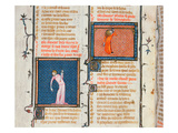 Ms 1126 the Suicide of Dido by the Sword and the Suicide of Phyllis by Hanging Giclee Print by  French