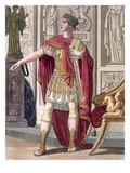 A Young Emperor in His Imperial Armour and Robes Giclee Print by Jacques Grasset de Saint-Sauveur