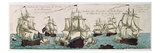 Naval Engagements Between the French and English Fleets During the American Revolution in 1778 Giclee Print by  French
