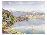 The Lake of Lucerne, Mount Pilatus in the Distance, 1857 (W/C on Paper) Lámina giclée por John William Inchbold