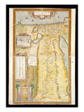 Map of Ancient Egypt, 1584 Gicléetryck av Abraham Ortelius