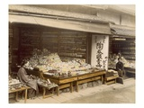 Porcelain Shops in Kiyomizu-Zaka, Kyoto, 1890S (Hand Coloured Photo) Giclee Print by  Japanese Photographer