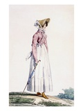 Ladies Summer Dress, Plate from From the 'Incroyable Et Merveilleuse' Giclee Print by Antoine Charles Horace Vernet