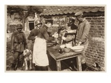 A Veterinary Hospital at the Front (B/W Photo) Giclée-Druck von  German photographer