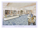 Perfume Shop, Illustration from 'Modern Interiors in Colour', 1929 (Colour Litho) Giclee Print by Karl Bertsch
