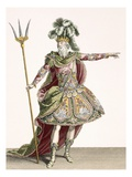 Costume for Neptune in Several Operas, Engraved by Rene Gaillard (C.1719-90) C.1780 (Engraving) Giclee Print by Jean Baptiste Martin