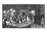 Assassination Attempt on King Louis XV (1710-74) by Robert Francois Damiens on 5th January 1757 Giclee Print by  French