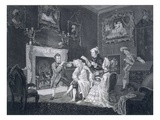 Servants Distract a Vain Old Man Whilst Another Steals from the Bureau, Engraved by Goldar, 1771 Giclee Print by  Pugh