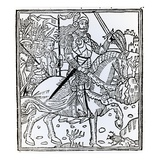Joan of Arc, from 'La Mer Des Histoires', 1491 (Woodcut) Giclee Print by  French