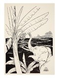 The Elephant's Child Going to Pull Bananas Off a Banana-Tree after He Had Got His Fine New Trunk Giclee Print by Joseph Rudyard Kipling
