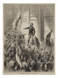 M. Gambetta Proclaiming the Republic, September 1870 Giclee Print by  French
