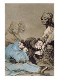 Obsequio a El Maestro (A Gift for the Master), Plate 47 of 'Los Caprichos', Original Edition Giclee Print by Francisco de Goya