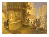 The Dewali or Festival of Lamps, from 'India Ancient and Modern', 1867 (Colour Litho) Giclee Print by William 'Crimea' Simpson