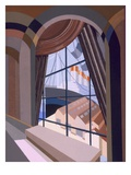 Large Window with a Seat, from 'Relais', C.1920S (Colour Litho) Giclee Print by Edouard Benedictus