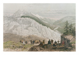 The Glacier and the Chamonix Valley, Engraved by Adolphe Bayot (1810-66) Mid 19th Century Giclee Print by Felix Benoist