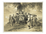 Reunion of Tcherkesse Princes, Sodja Valley, on the Black Sea, Plate 3 from a Book on the Caucasus Giclee Print by Grigori Grigorevich Gagarin