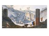 Early Excavations at Herculaneum, in Which Sir William Was Active with the Support of the Monarchs Giclee Print by Pietro Fabris