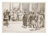 The Catilinarian Conspirators before the Senate (Litho) Giclee Print by  English