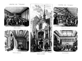 The Offices of the 'Figaro', 26 Rue Drouot, Paris, 1874 (Engraving) Impression giclée par  French