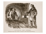 Flushing the Sewers, Partly from the Daguerreotype by Richard Beard Giclee Print by  English