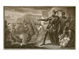 Edward I Removing the Stone from Scone, Engraved by Neagle Giclee Print by Henry Tresham
