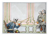 Frederick the Great Love of Justice (Colour Litho) Giclee Print by Richard Knoetel