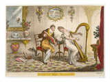 Harmony before Matrimony&#39;, Published 1805 (Coloured Engraving) Giclee Print by James Gillray