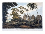 Pagodas at Deogur, 1787 (Aquatint) Giclee Print by William Hodges