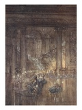 Through the House Give Glimmering Light, by the Dead and Drowsy Fire Gicleetryck av Arthur Rackham