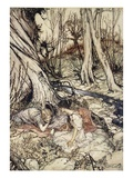 ..Where Often You and I Upon Faint Primrose-Beds Were Wont to Lie Giclee Print by Arthur Rackham
