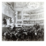The Battle of Hernani at the Comedie Francaise on the 25th February 1830, 1909 Giclee Print by Paul Albert Besnard