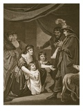 Lady Eliz. Gray Intreating Edw. IV to Protect Her Children, Engraved by W. Bromley Giclee Print by John Opie