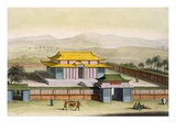 Temple 'Daibods' in a Compound in the Countryside, from 'Costume Dei...' by Giulio Ferrario Giclee Print by  Italian