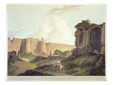 The Western Entrance of Shere Shah's Fort, Delhi Premium Giclee Print by Thomas Daniell