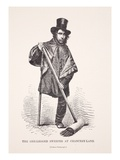 The One-Legged Sweeper at Chancery Lane, from a Photograph Giclee Print by  English