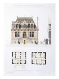 Design from 'Town and Country Houses Based on the Modern Houses of Paris', C.1864 (Colour Litho) Giclee Print by Eugene Cordier