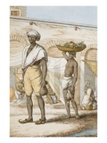 Hindu Valet or Buyer of Food Giclee Print by Franz Balthazar Solvyns