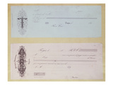 Requests to Pay, Issued in Troyes in the 1840's (Engraving) Giclee Print by  French
