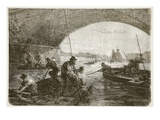Fishing for Weapons in the Seine Giclee Print by  French