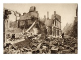 View of Rue St. Martin, Soissons, 1918 (B/W Photo) Giclee Print by  German photographer