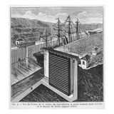 Designs by Gustave Eiffel (1832-1923) for Locks in the Panama Canal Giclee Print by Louis Poyet