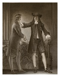 Charles II and Sir William Temple, Engraved by J. Parker Giclee Print by Thomas Stothard