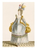 Lady's Ball Gown, Engraved by Dupin, from 'Galeries Des Modes Et Costumes Francais', 1778 Giclee Print by Pierre Thomas Le Clerc